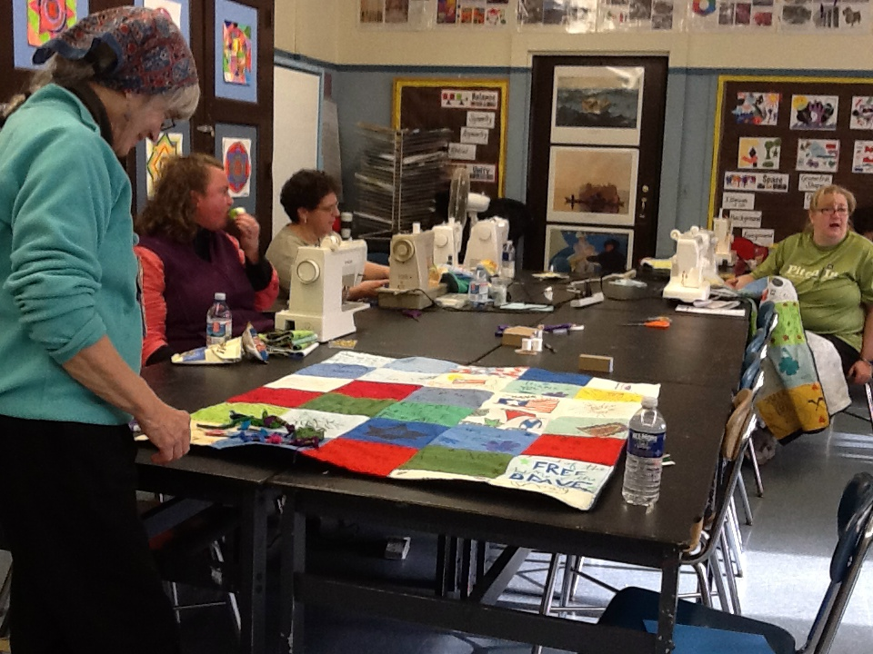 Quilting for MLK Day Cambridge